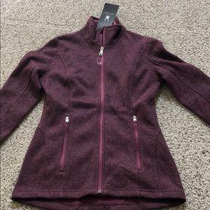 Beautiful plum color spyder knit jacket